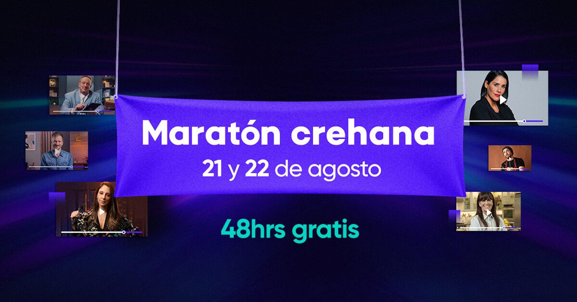 ¡Sé parte de la Maratón Crehana y corre directo hacia tus metas con 48h de acceso libre!