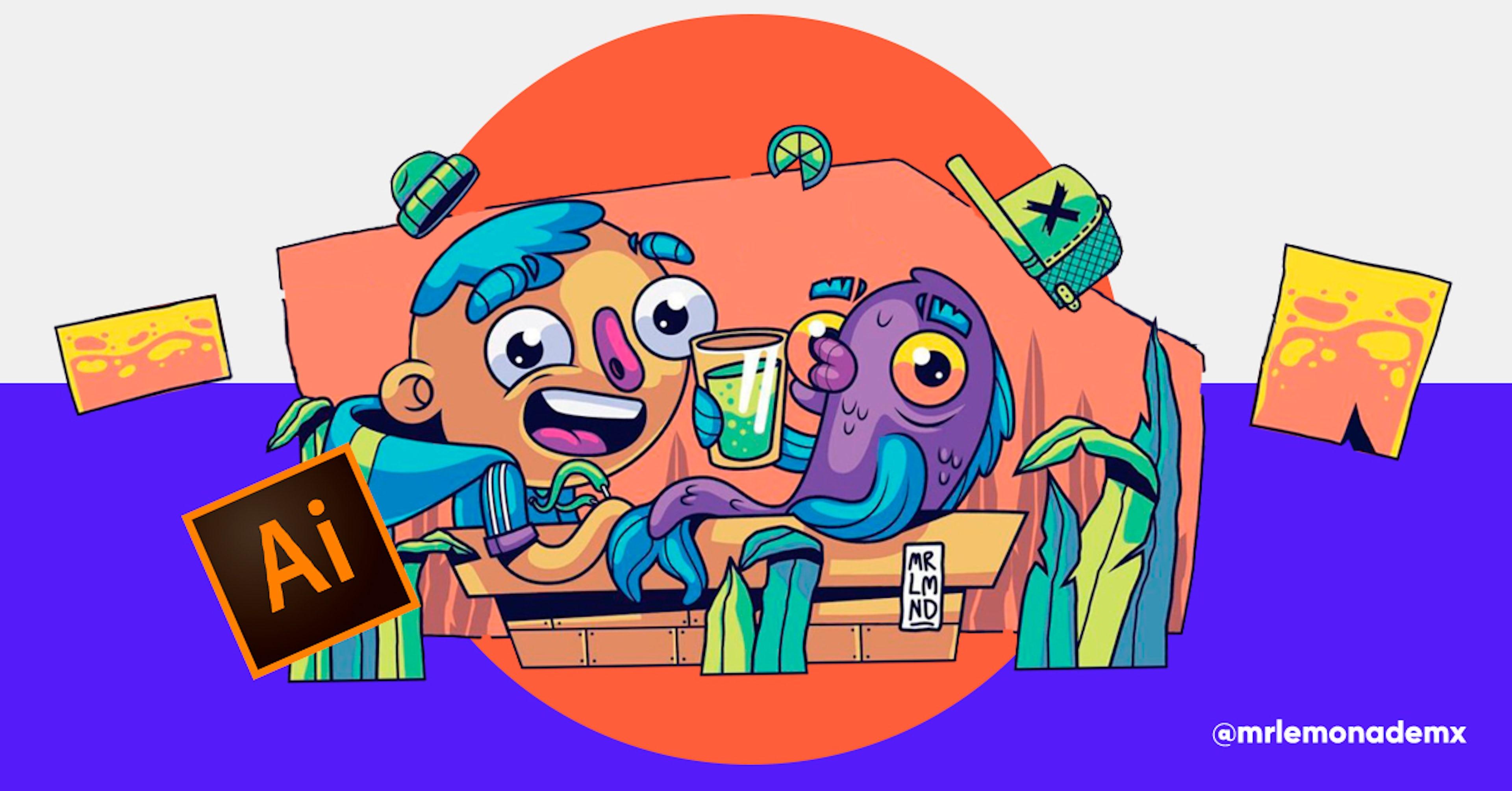 Cursos gratis de Adobe Illustrator para ilustrar los dibujos que guardas desde el kinder