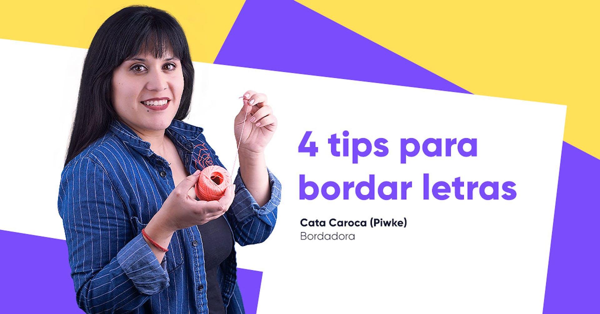 Tips: ¡Bordemos letras a mano!
