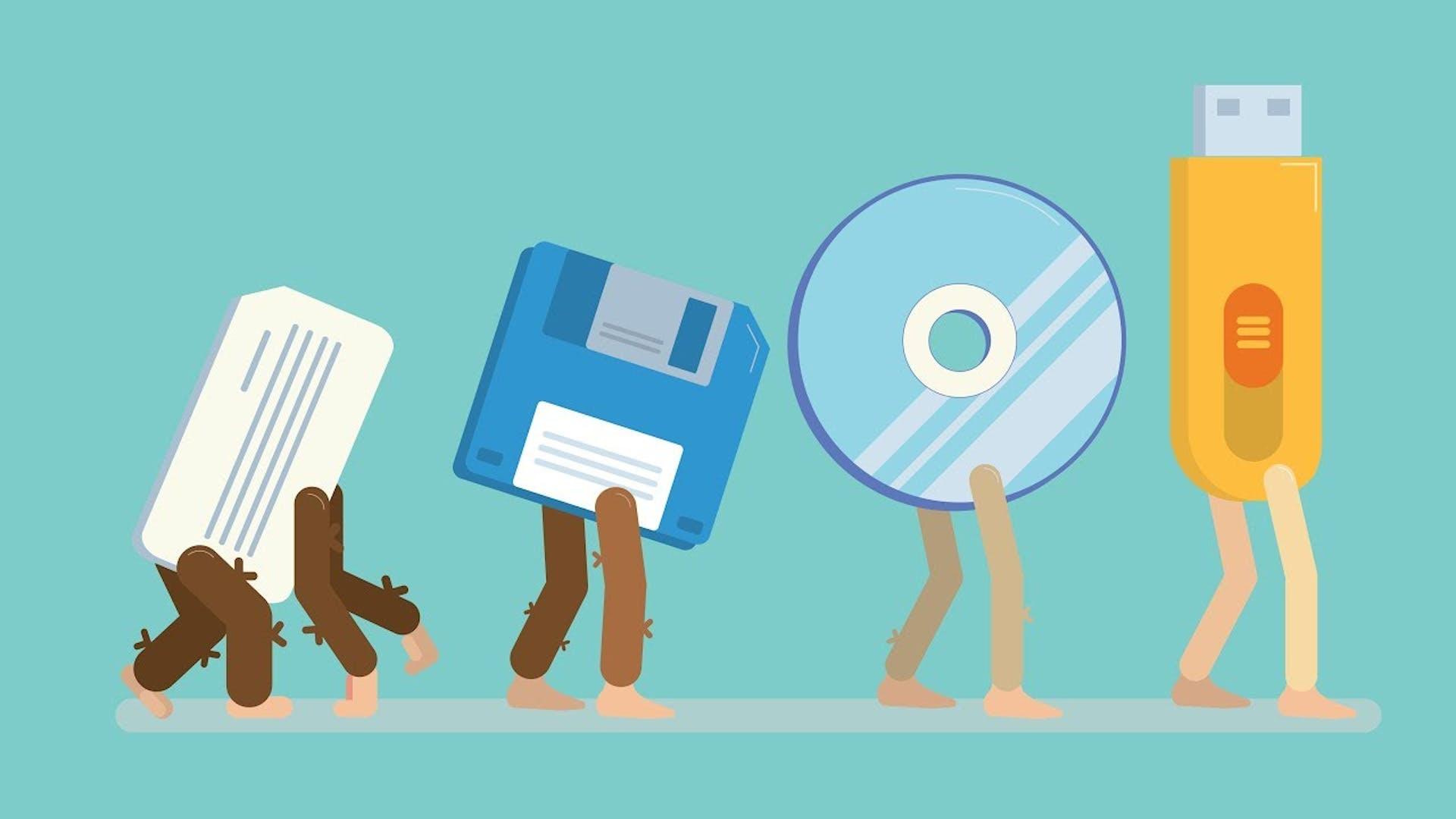 ¿Te falla la memoria...externa? Conoce la evolución de los dispositivos de almacenamiento