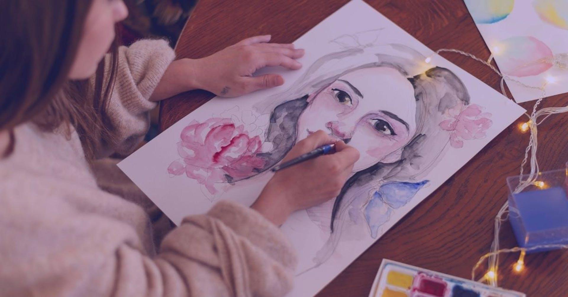 Ilustración de retrato: dale vida a tu arte sin ser un experto.