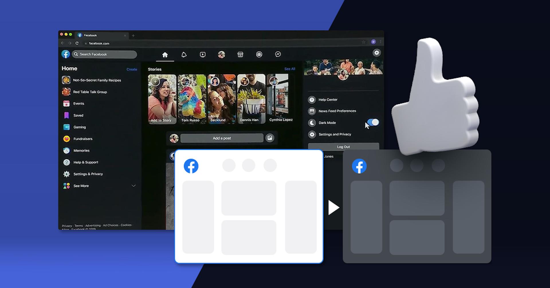Facebook rediseñará su interfaz y añadirá modo oscuro