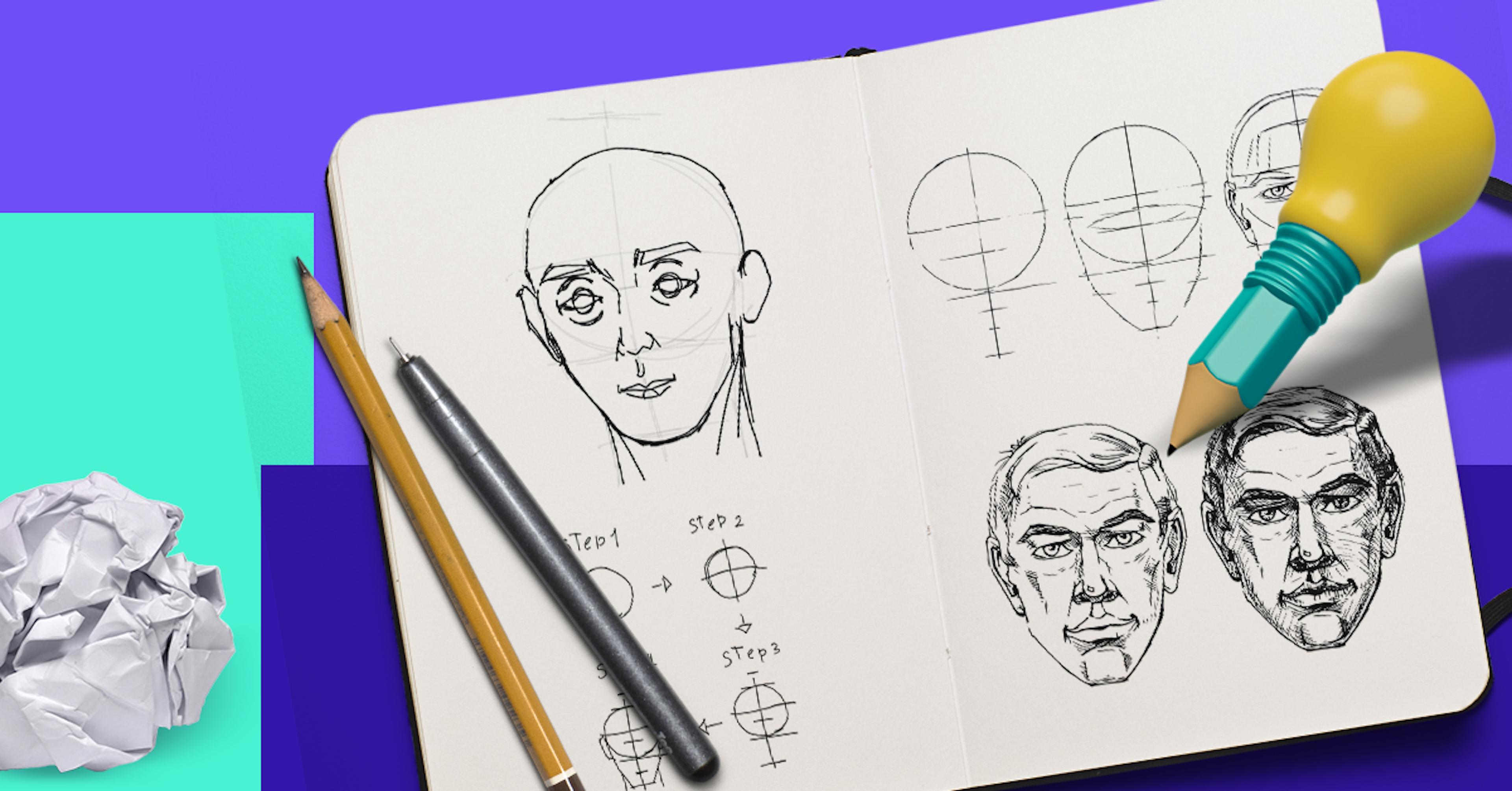 Aprender a dibujar paso a paso: 12 ejercicios para hacer en casa