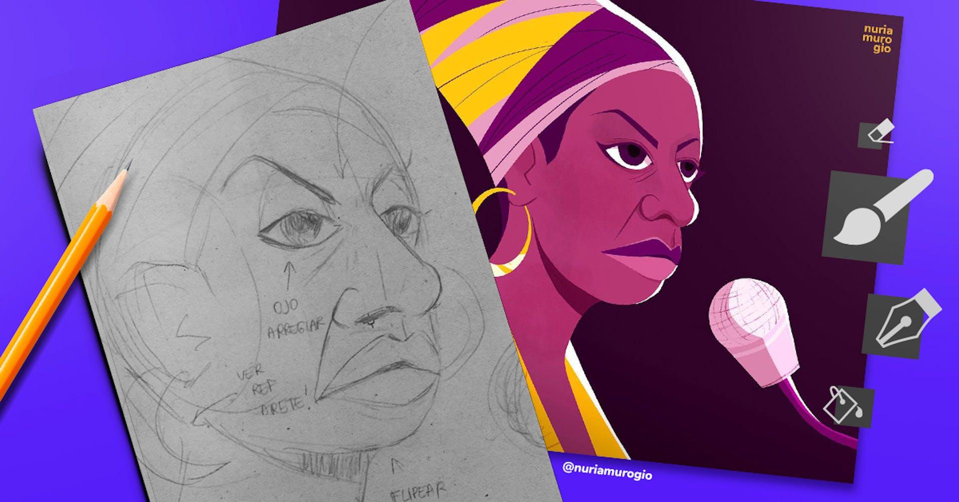 Ilustraciones digitales que no abandonaron el papel