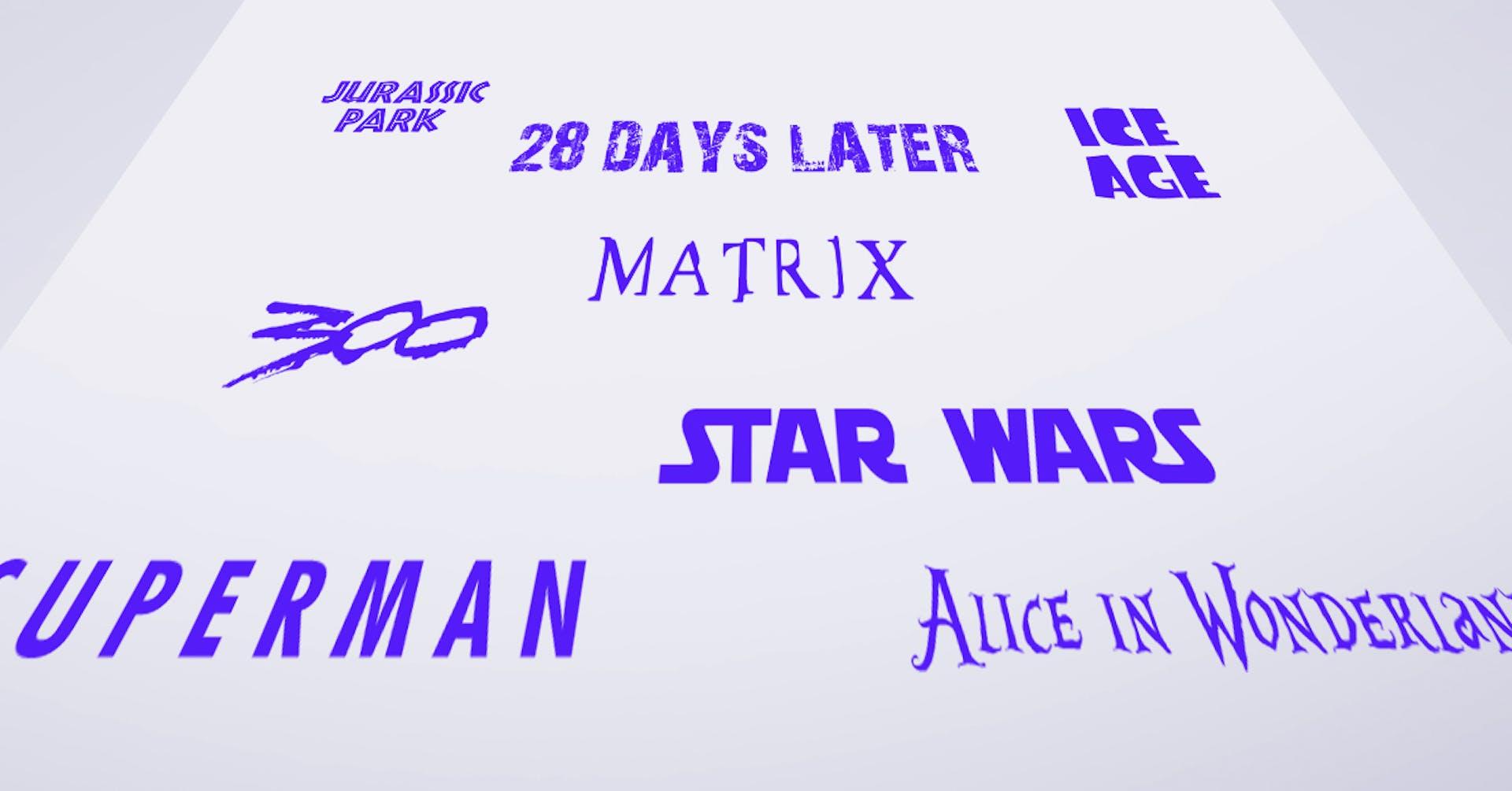+10 tipografías de películas que te harán recordar todo el film