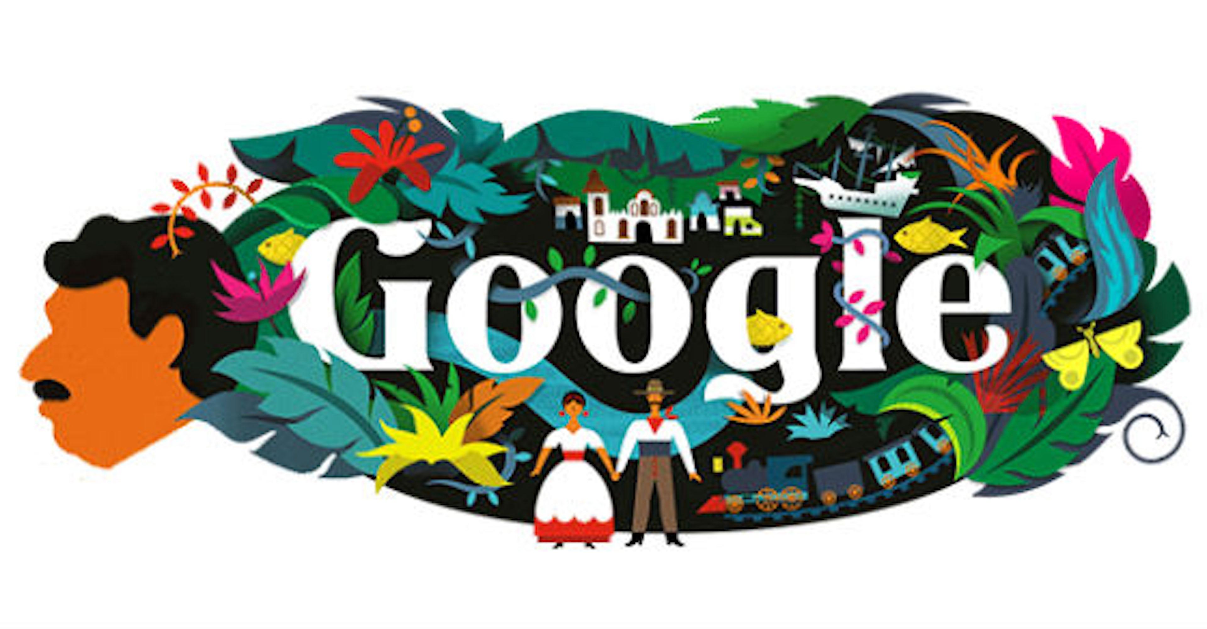 El Doodle de García Márquez que puede verse en 37 países ¿Está tu país en la lista?