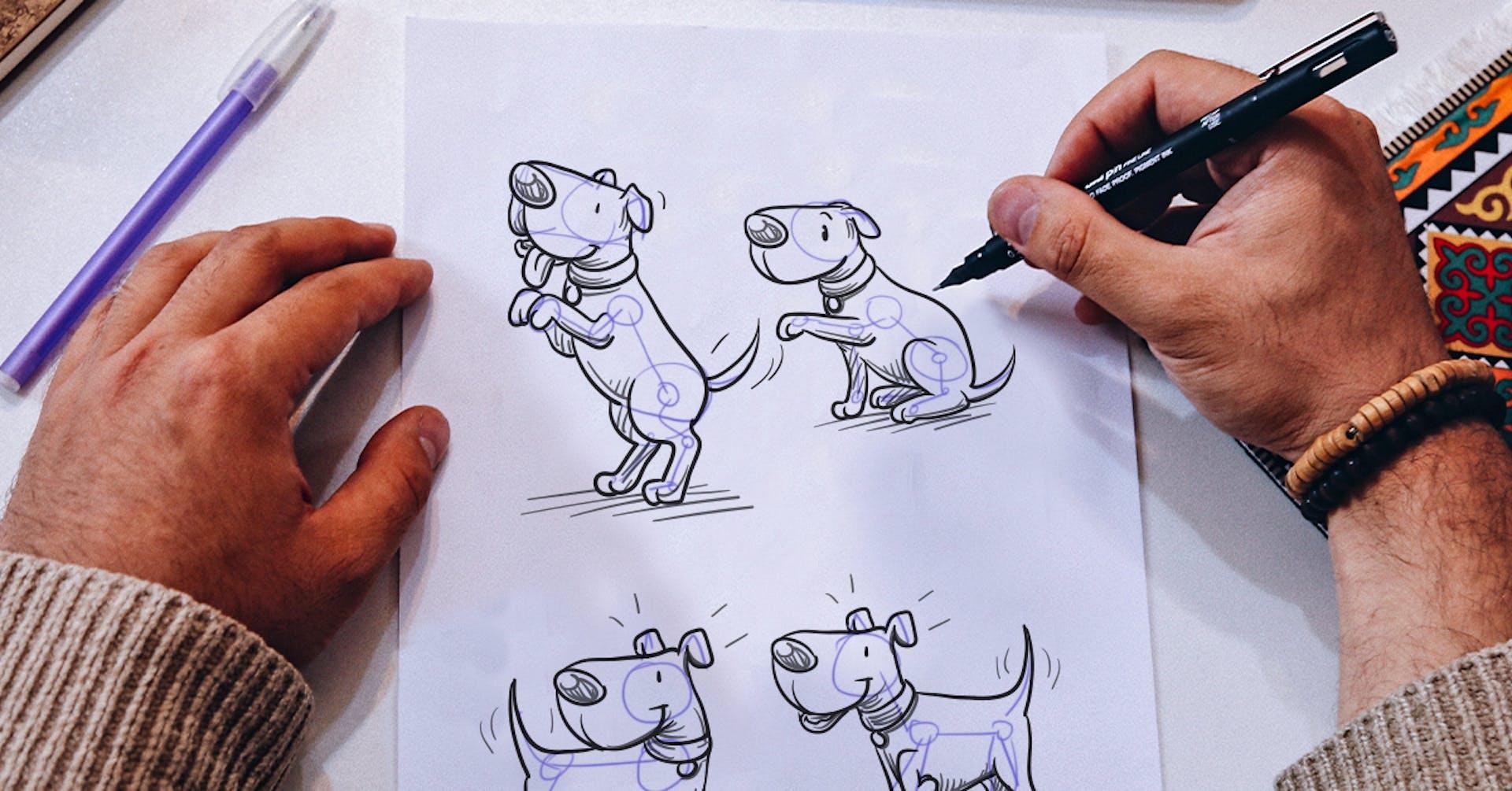 Como desenhar um cachorro passo a passo (e não perder o respeito de seu chihuahua)?