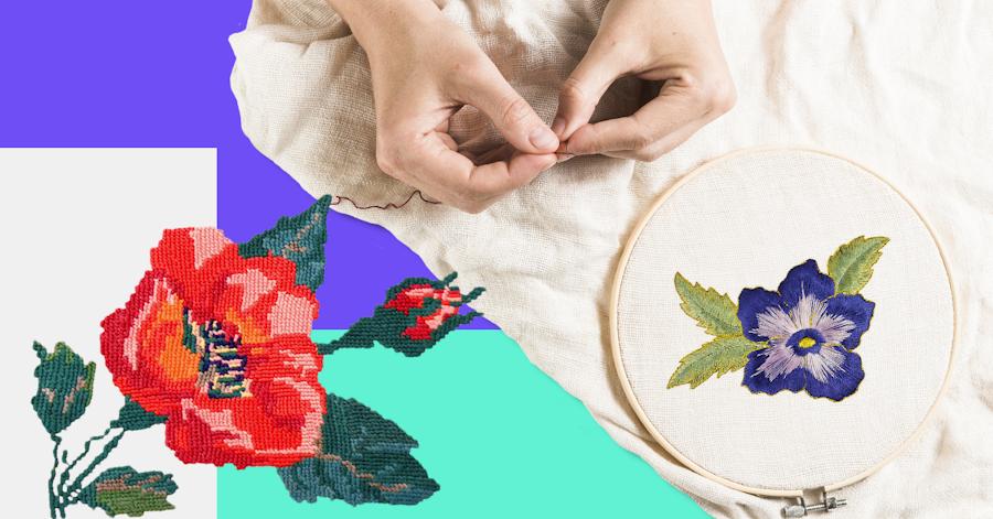 Puntadas para bordar flores: 7 bordados inspirados en la naturaleza