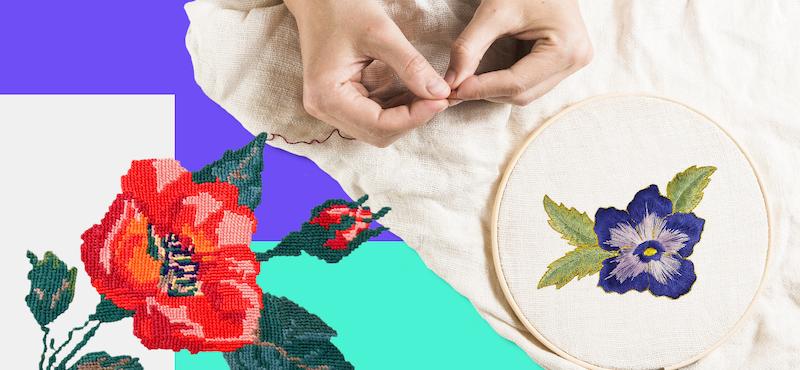 Puntadas para bordar flores: 5 bordados inspirados en la naturaleza