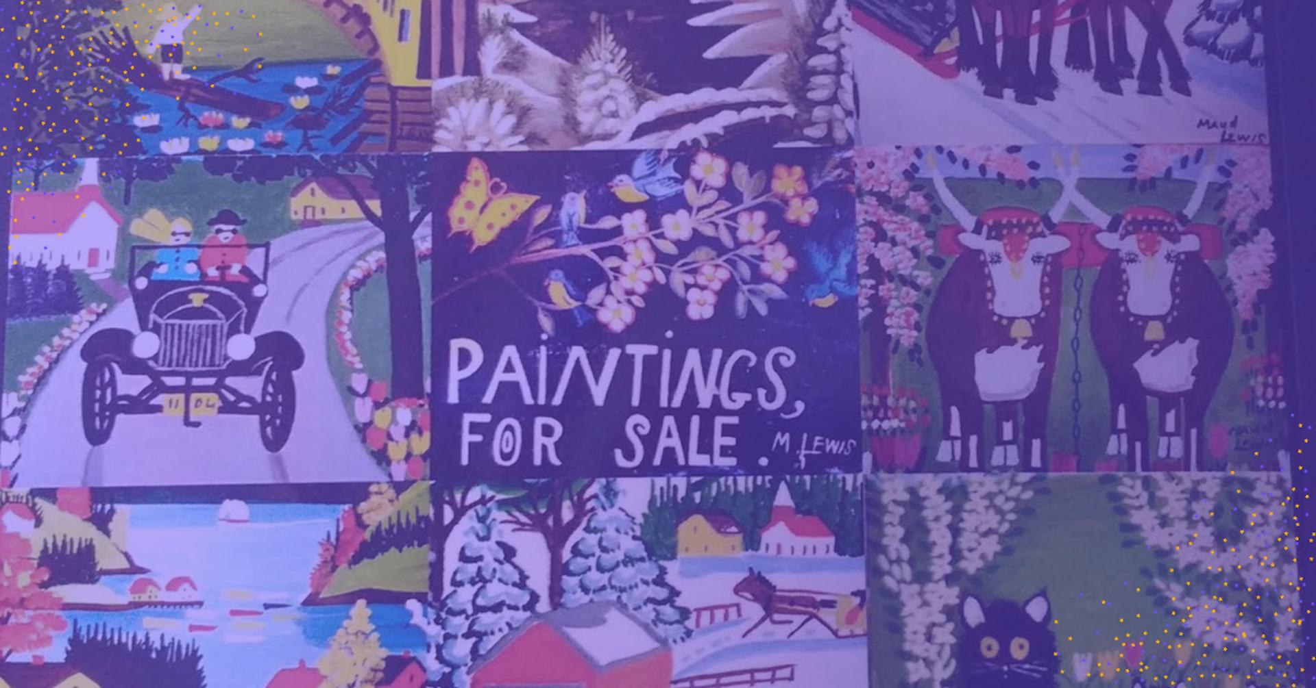 Descubre estas 5 pinturas de Maudie y enamórate de esta peculiar artista