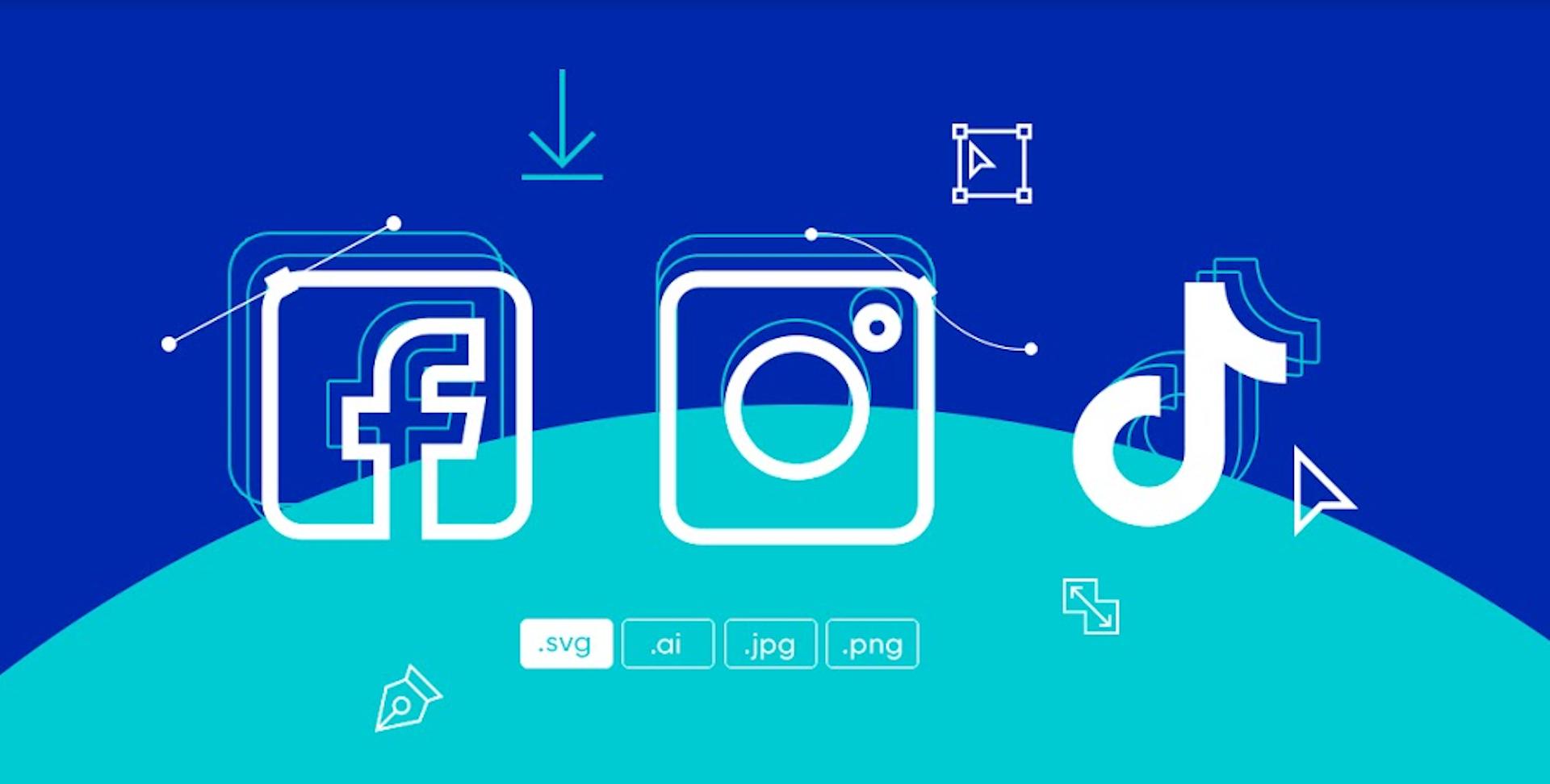 ¿Descargar logos de redes vectorizados? Hazlo sin instalar programas