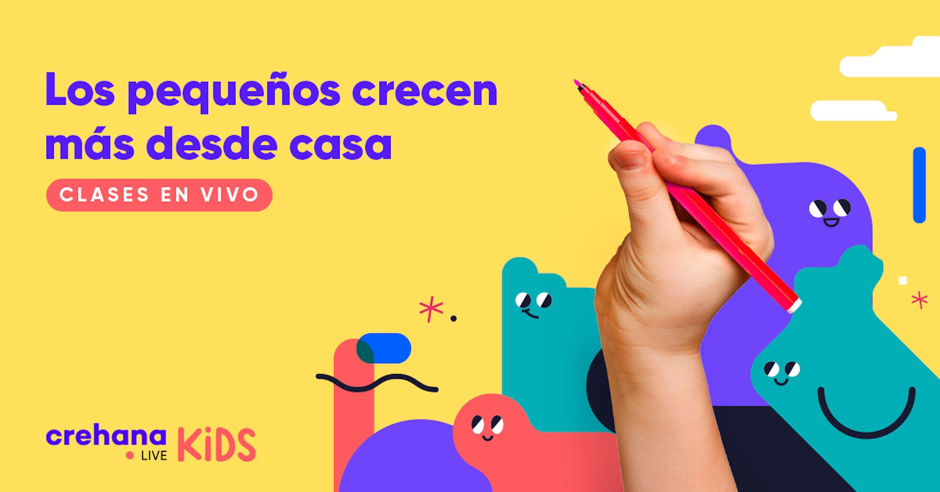 Crehana Live Kids, una nueva sección gratuita para niños y niñas
