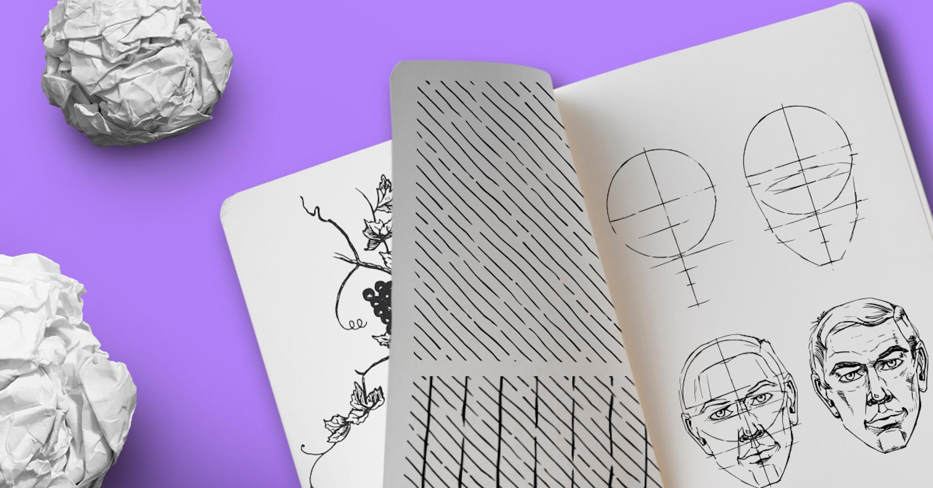 6 exercícios para desenhar passo a passo