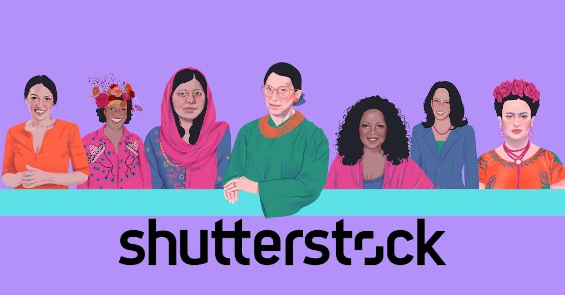Shutterstock: 7 ilustraciones gratuitas de mujeres activistas