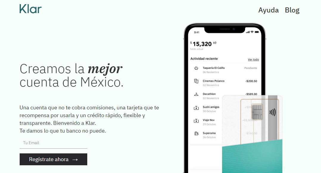 Klar startup México