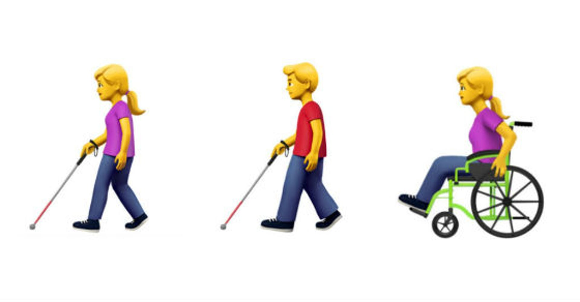 Los emojis de Apple que buscan la inclusión de las personas con discapacidad