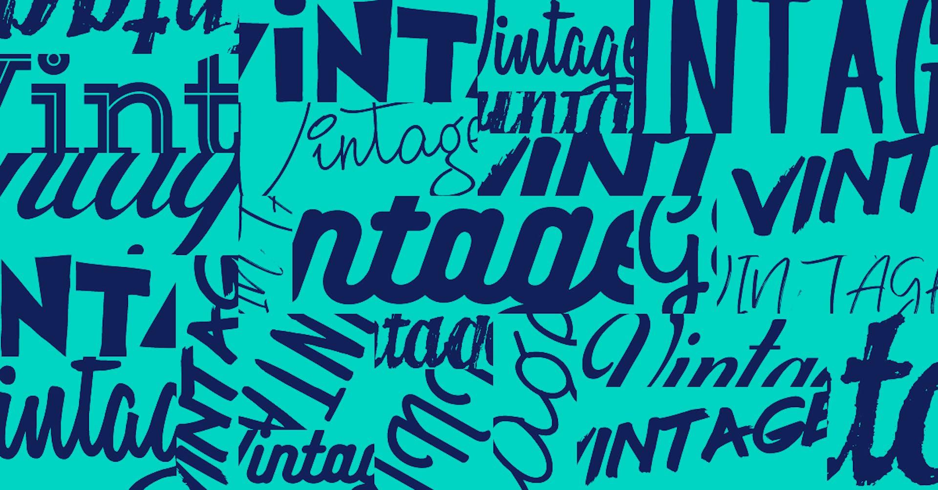 +45 tipografías vintage que le gustarán a tu abuela y a tus clientes