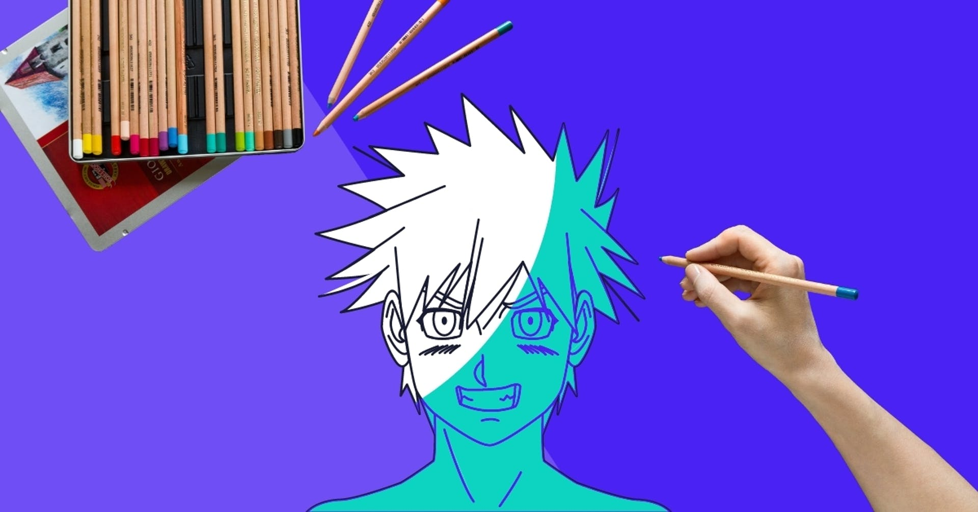 ¿Cómo colorear animé con lápices de colores? Tips para colorear anime como un profesional