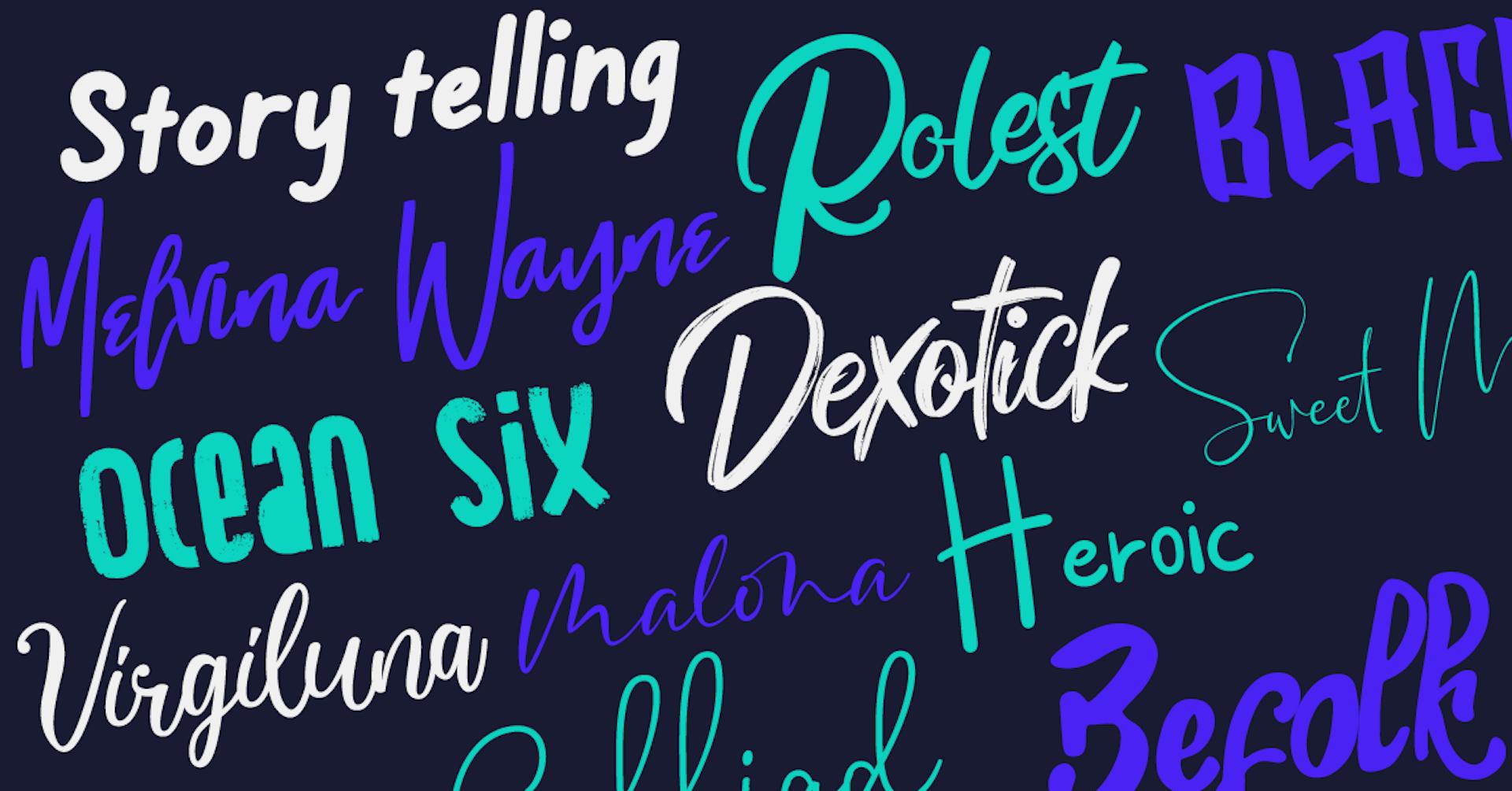 20 fuentes caligráficas gratis para los mejores diseños del 2021