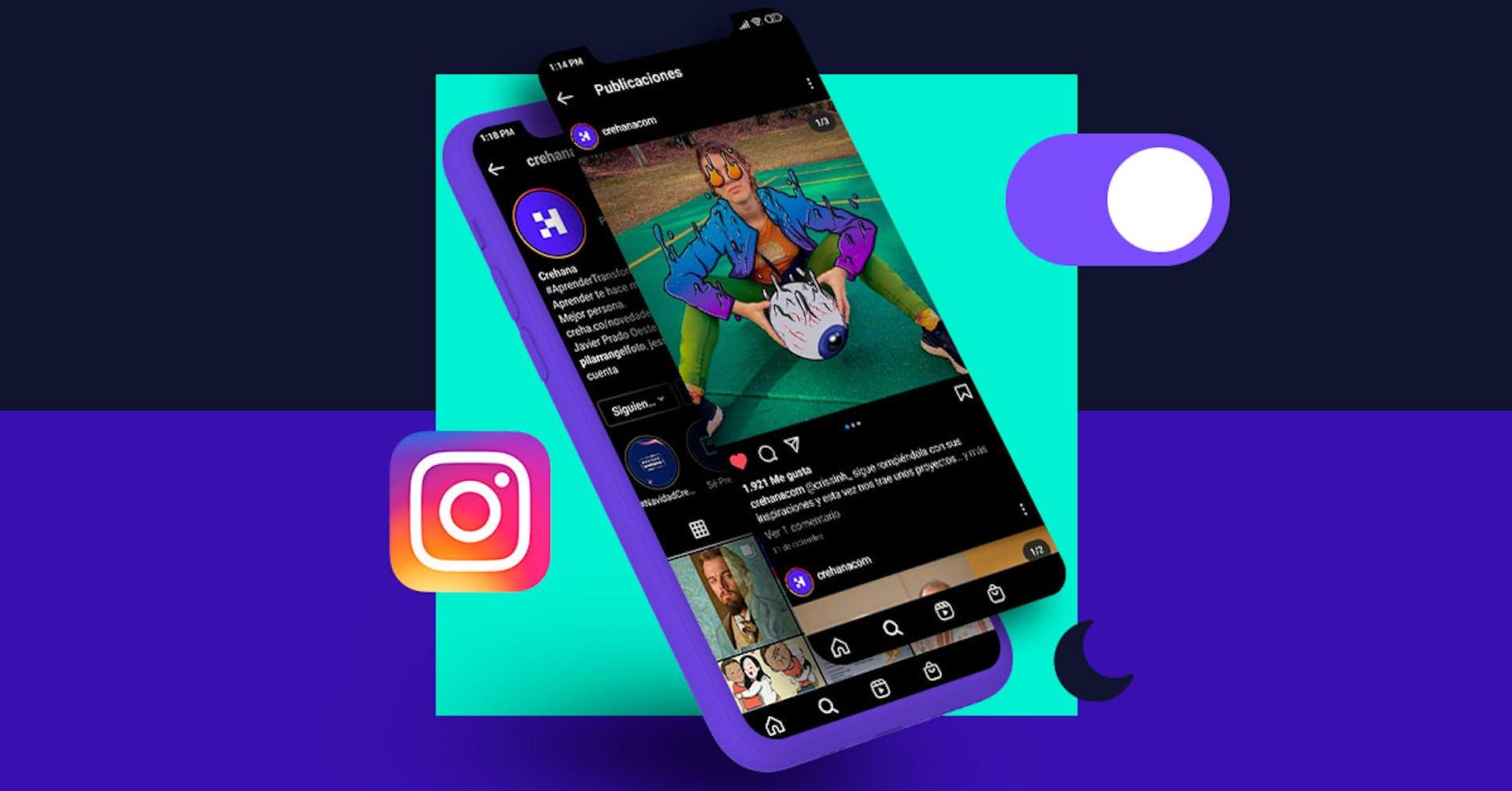 ¿Cómo poner el modo oscuro en Instagram? Dale descanso a tus ojos