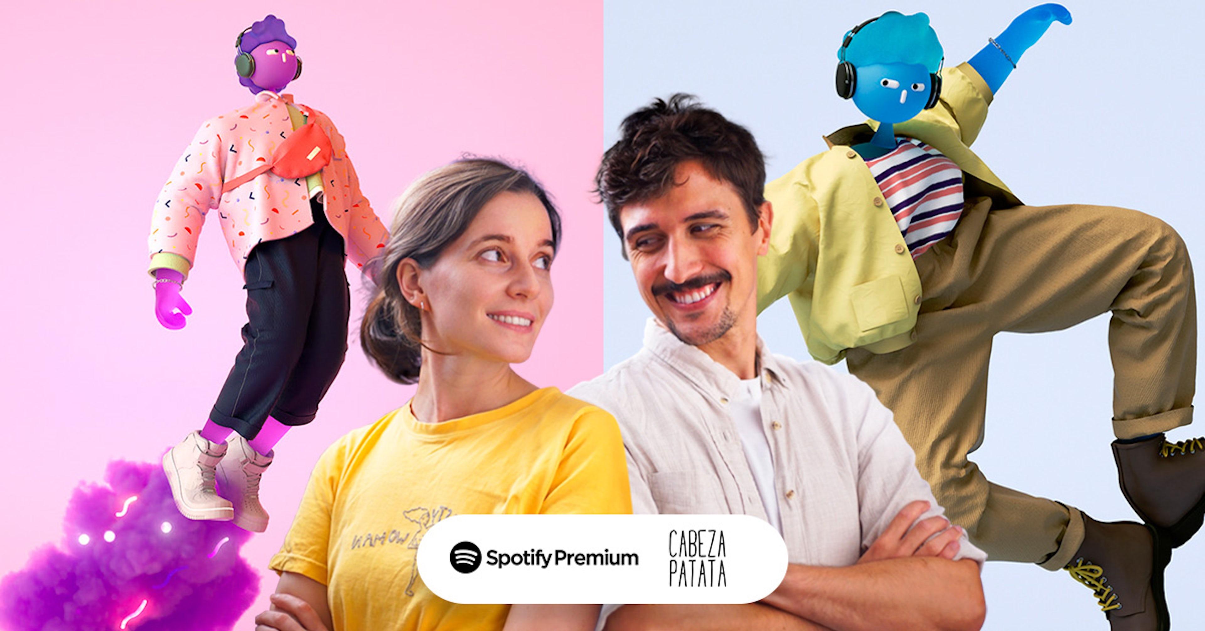 Cabeza Patata anima para Spotify. Checa aquí su trabajo