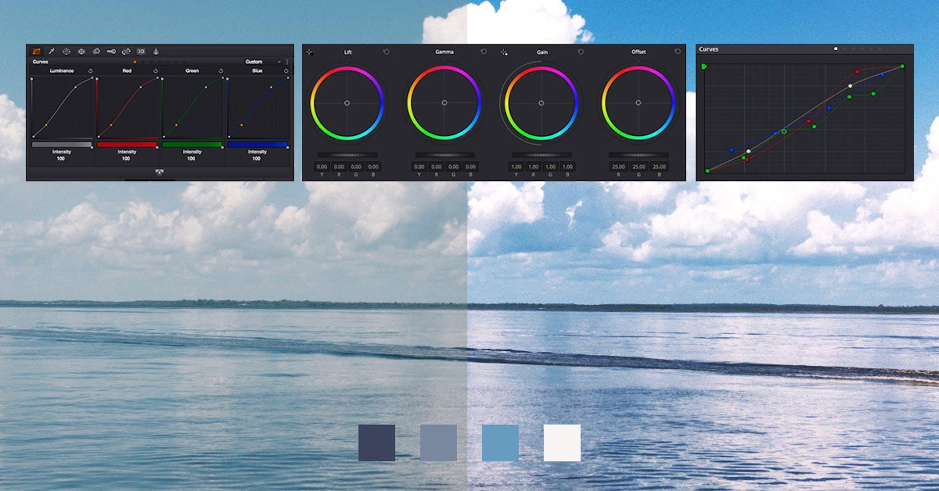 Não é a mesma coisa: diferenças entre correção e gradação de cores