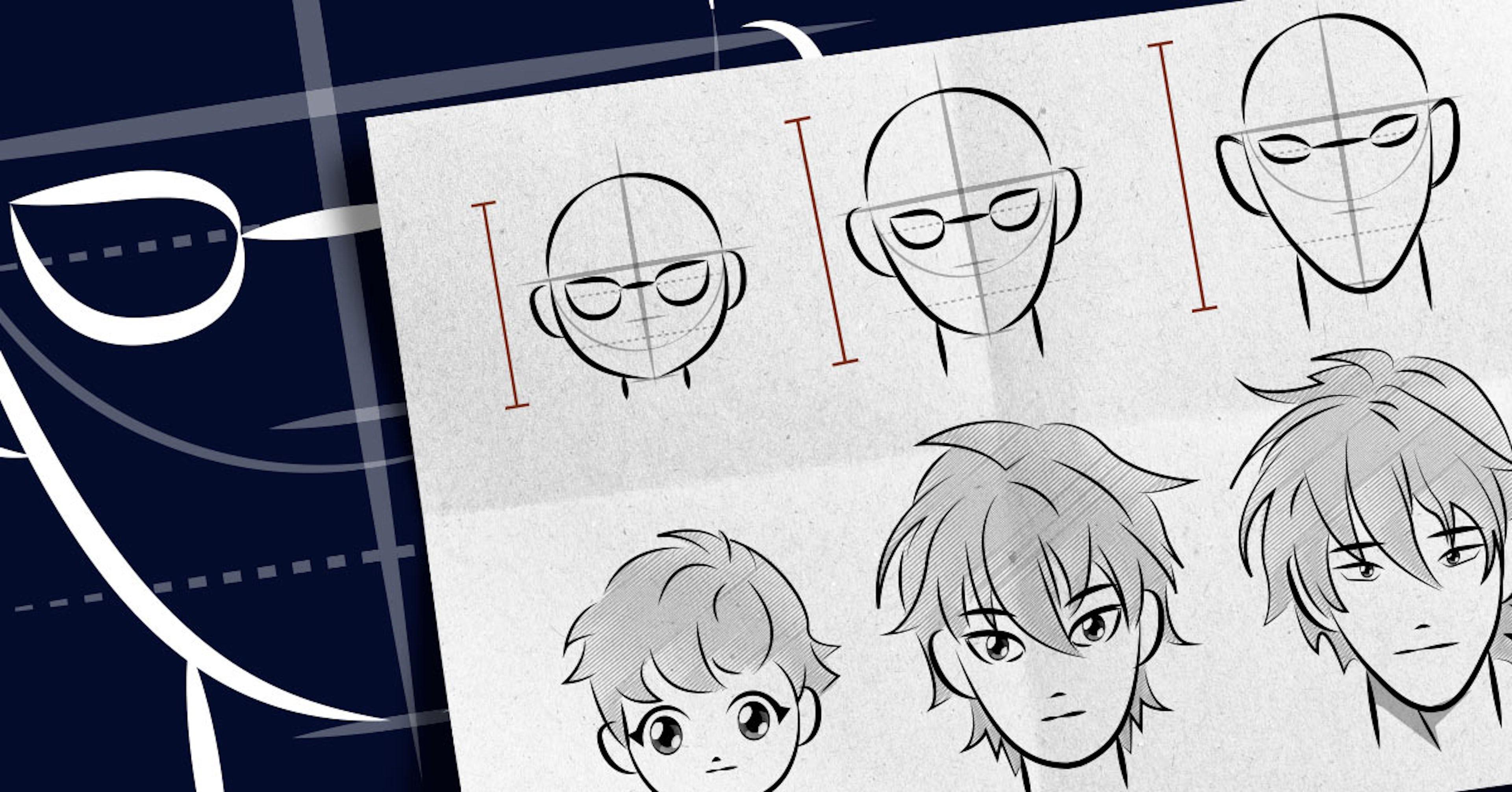 Passos para desenhar um rosto a partir do zero