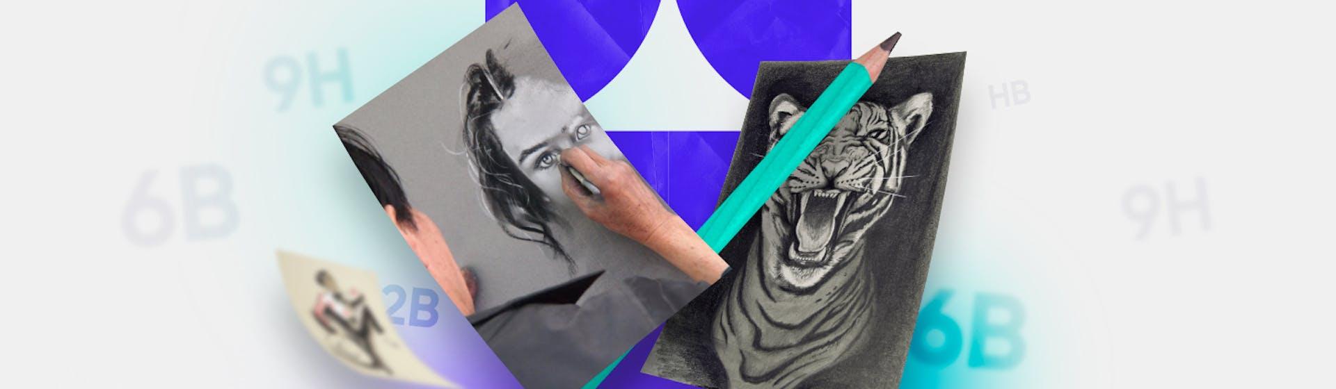 ¿Qué lápices se usan para dibujar retratos? ¡Tu estilo y técnica lo deciden!