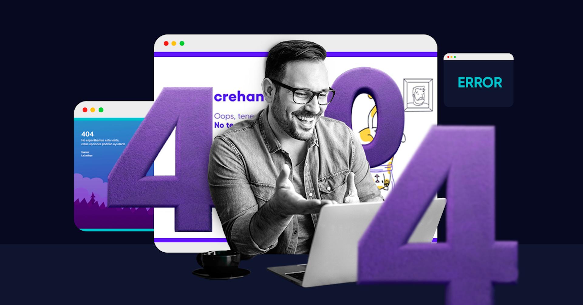25 ejemplos de las mejores páginas de error 404: convierte a usuarios molestos en clientes leales
