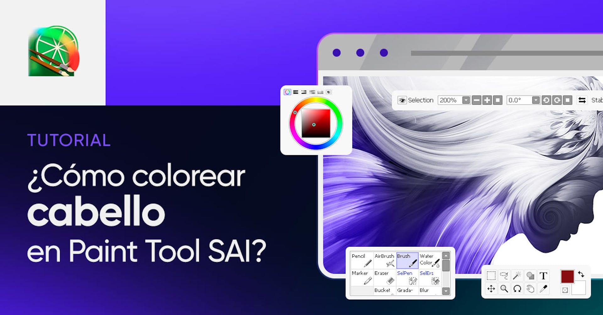 ¿Cómo colorear cabello en PaintTool SAI? Tutorial paso a paso