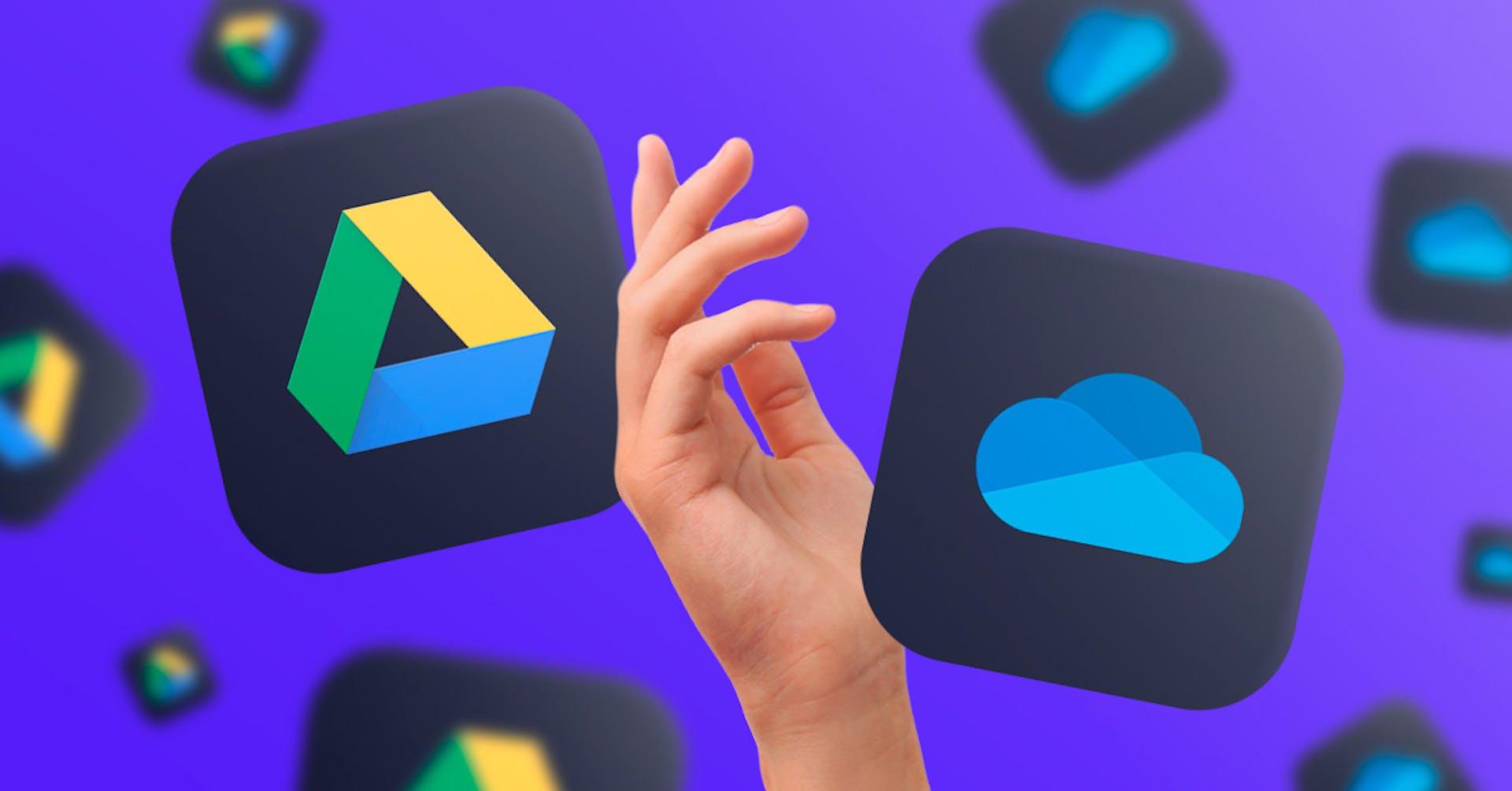 Google Drive vs. OneDrive ¿Cuál es la mejor opción para alojar tus datos?