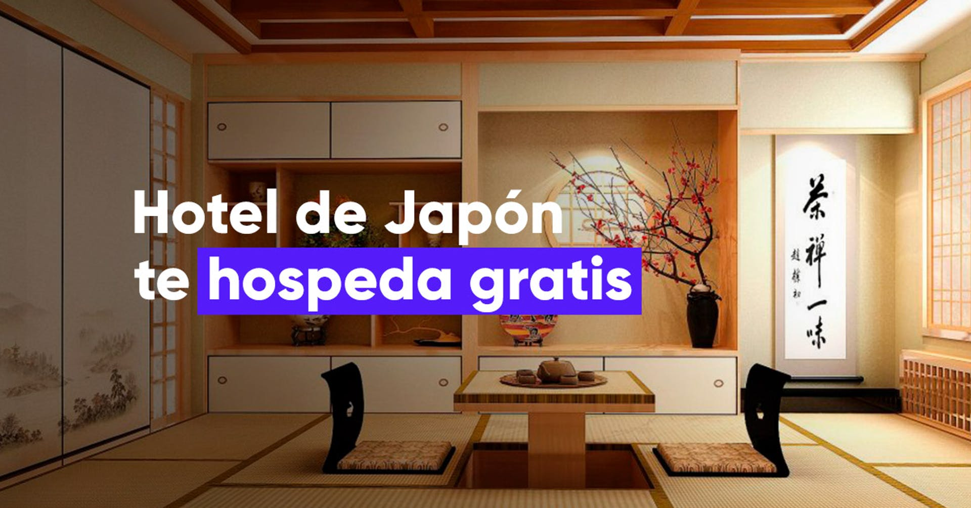 Hotel de Japón te hospeda gratis a cambio a de que realices un streaming