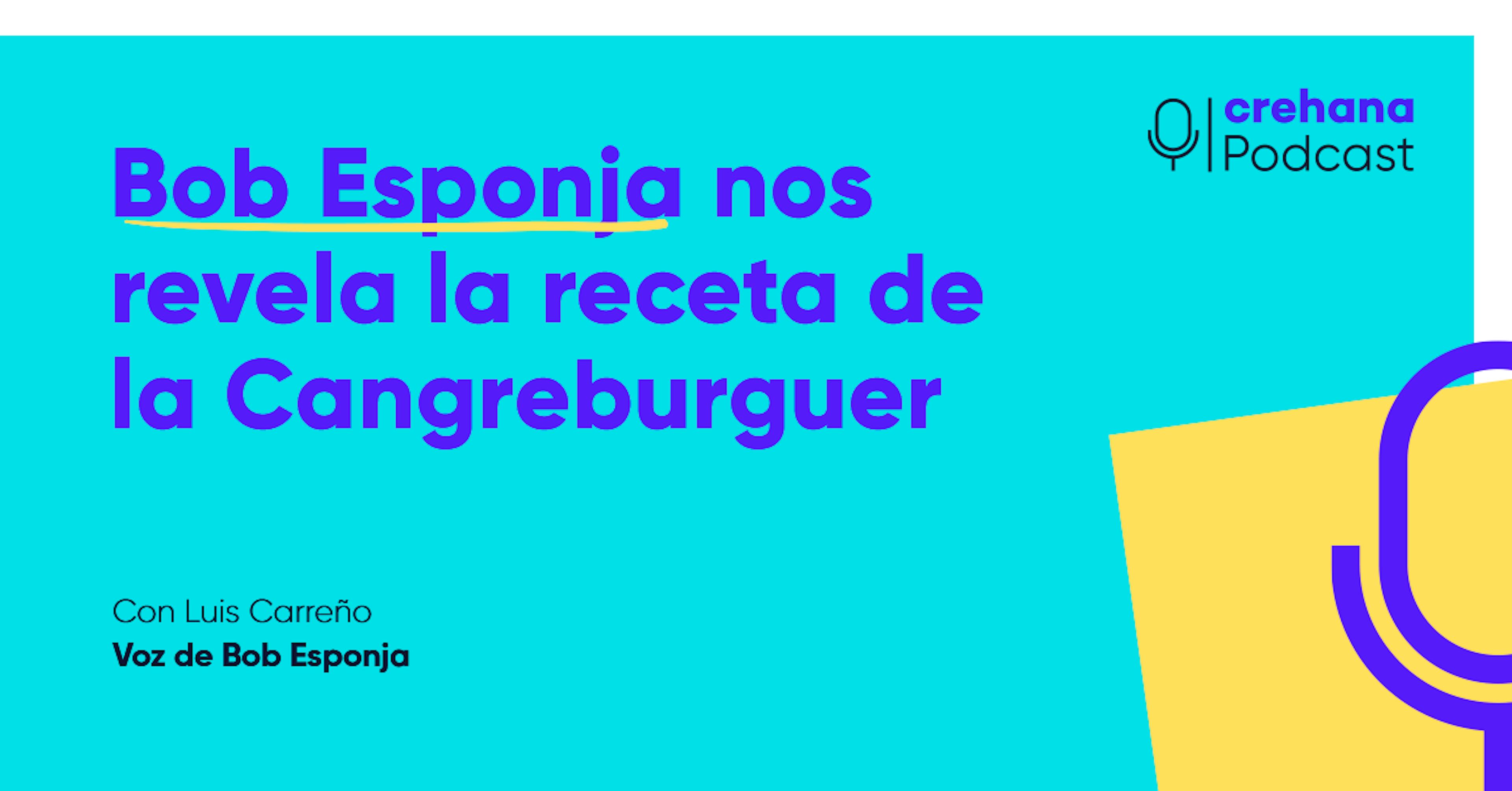 Bob Esponja nos revela la receta secreta de la cangreburguer