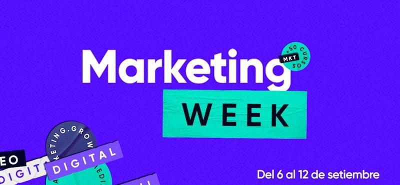 ¡Hoy empieza la Semana del Marketing en Crehana! Conoce todos los hacks que tenemos para ti