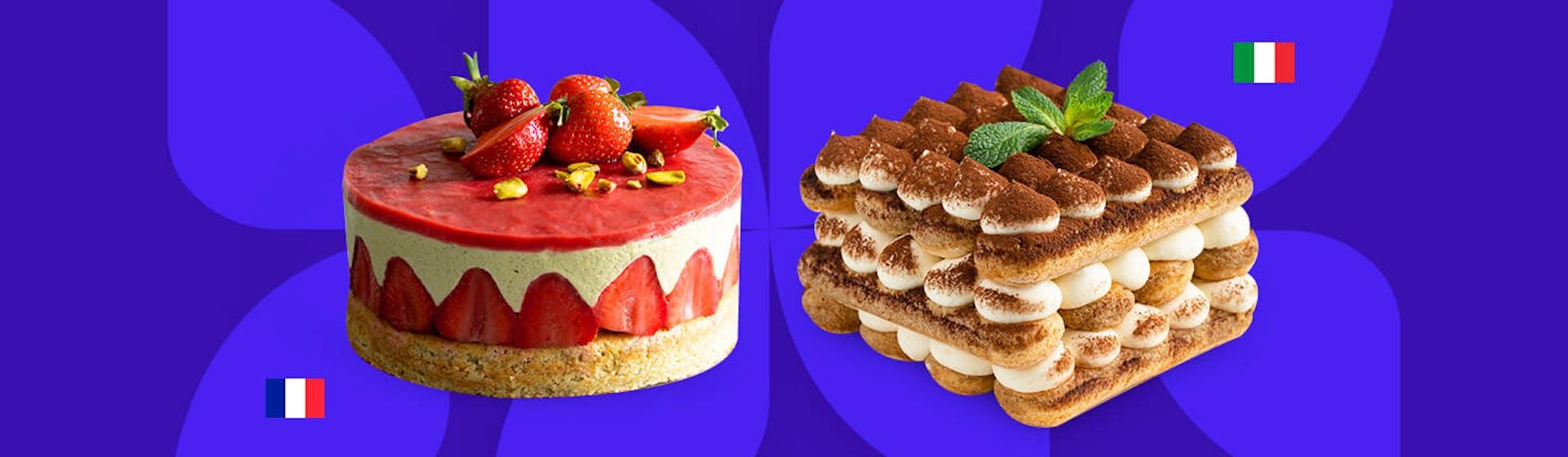 ¿Cuál es la diferencia entre la pastelería italiana y la pastelería francesa?