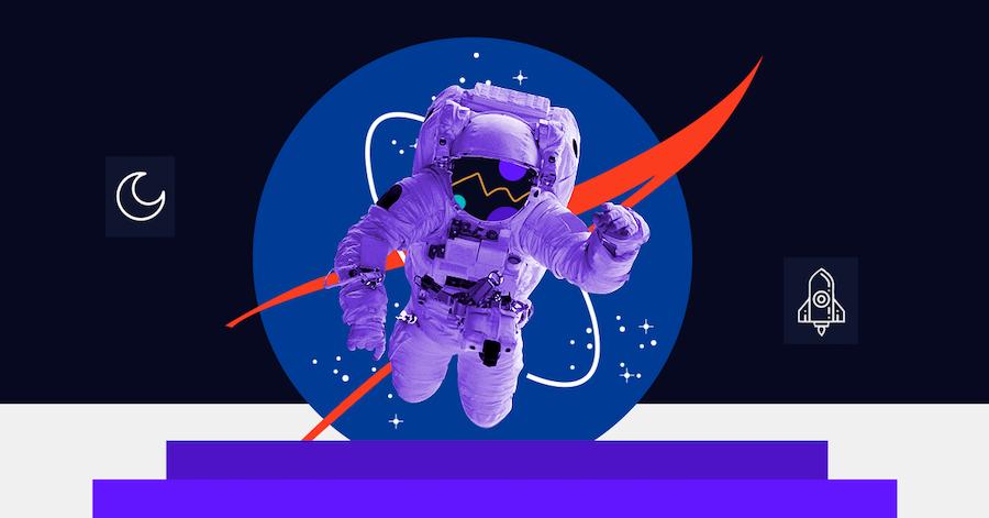 """De la """"albóndiga"""" al """"gusano"""", todo sobre el logotipo de la NASA"""