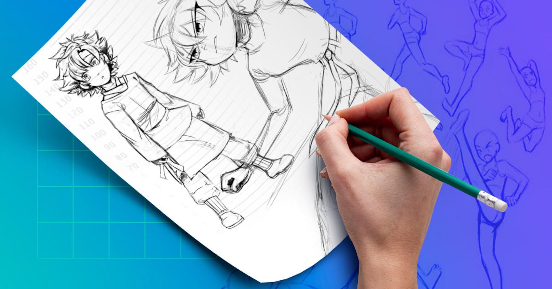 ¿Cómo dibujar poses de anime? Trucos y poses de anime para dibujar