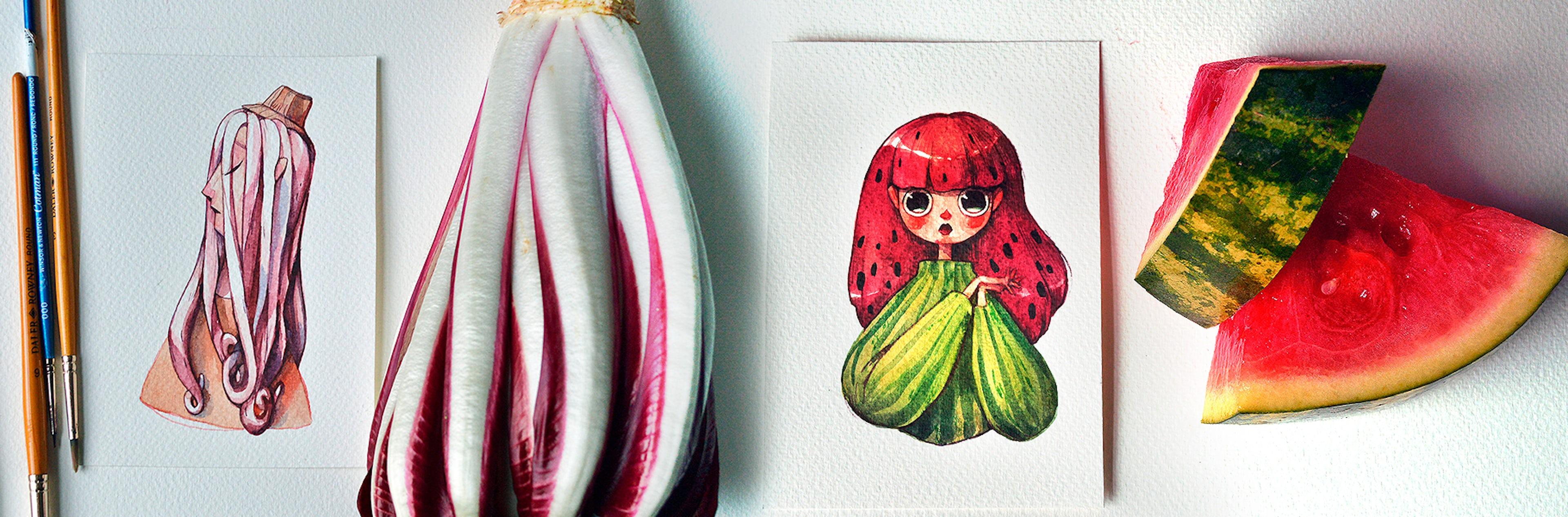 Esta artista convirtió frutas y vegetales en increíbles personajes