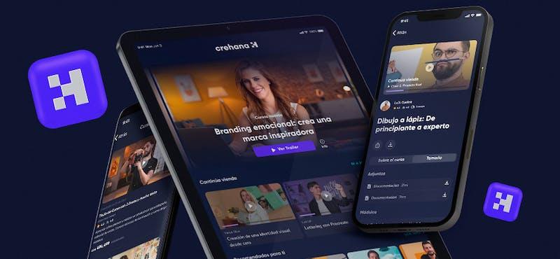 Nueva app de Crehana 2021: innovación de diseño y personalización de contenido