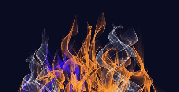 pincel humo de fuego