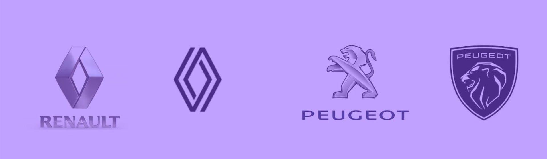 ¿Qué sucedió con los logos de Renault y Peugeot?