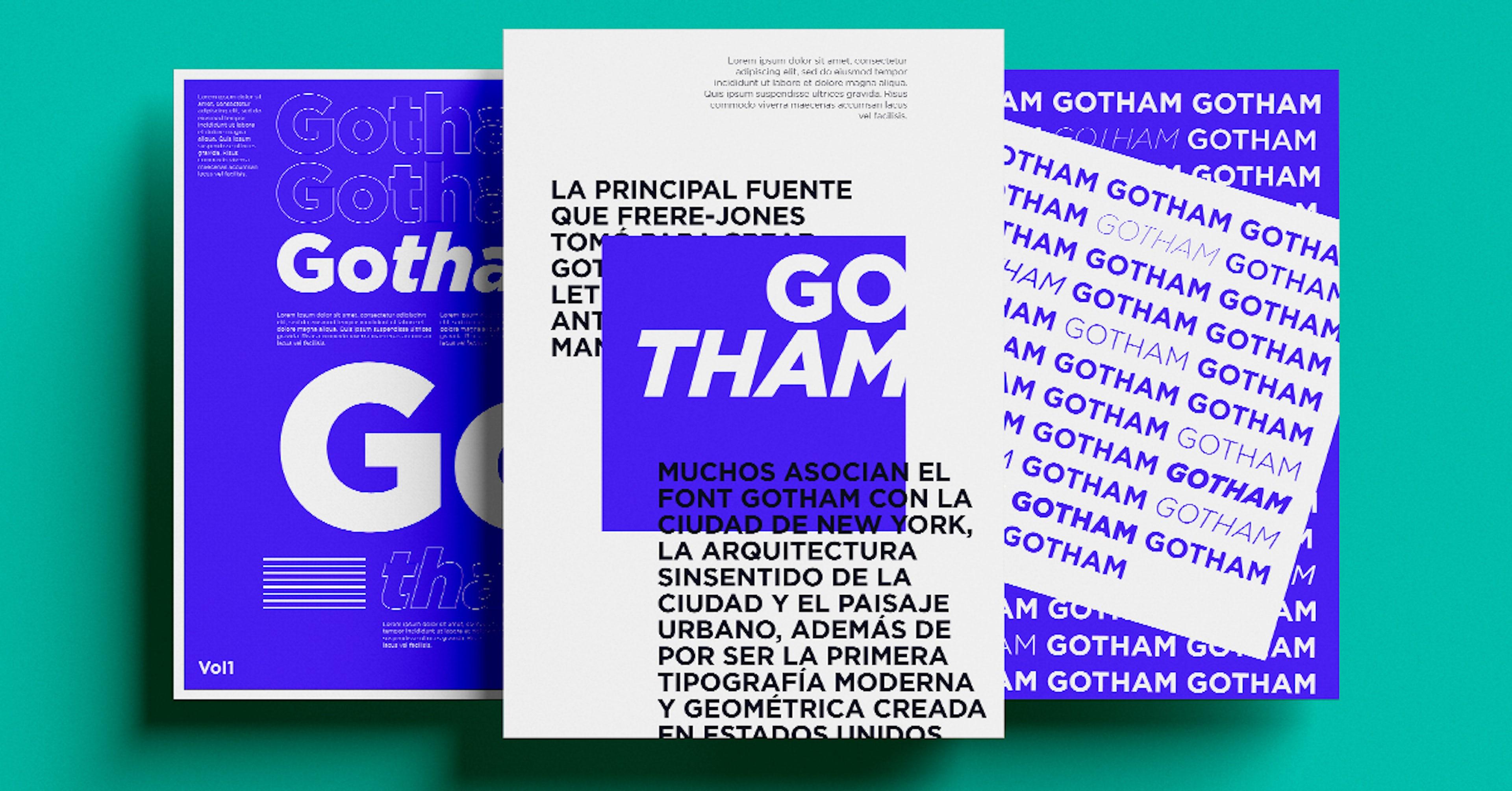 Gotham font: La tipografía que no le falta a ningún diseñador