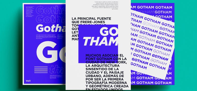 Conoce Gotham Font: la tipografía clásica que te hará destacar como diseñador
