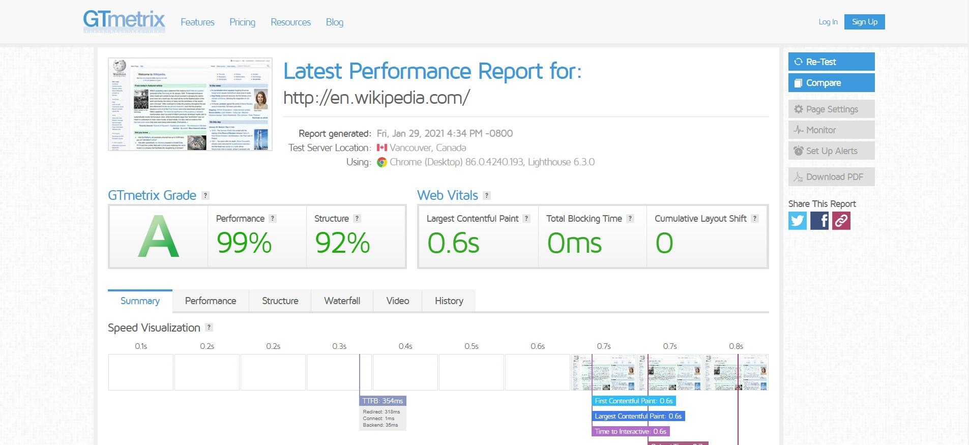 GT Metrix te permitirá elaborar informes completos para optimizar la velocidad de carga.