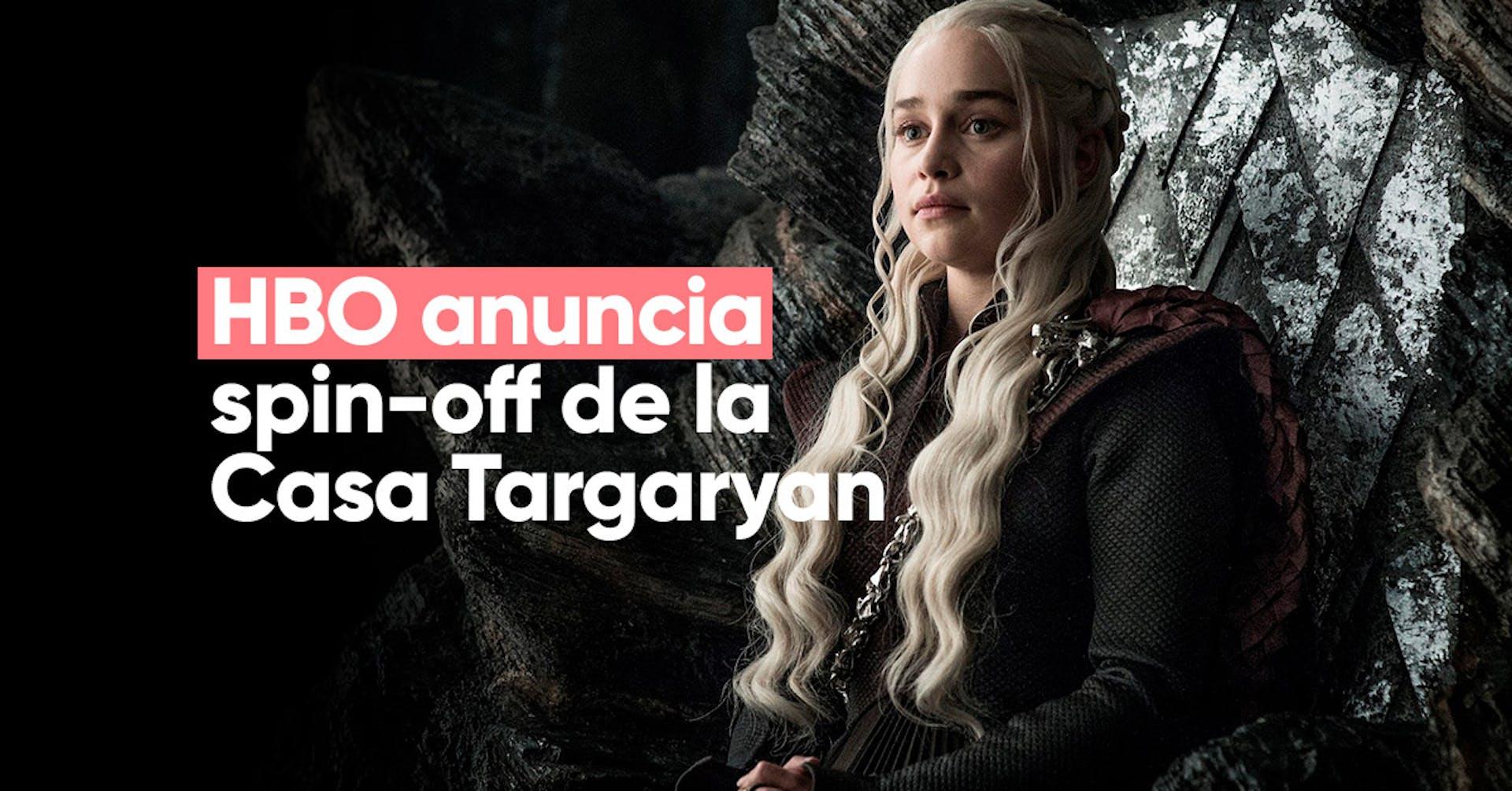 "HBO anuncia un nuevo spin-off de Game of Thrones: ""House of the Dragon"""