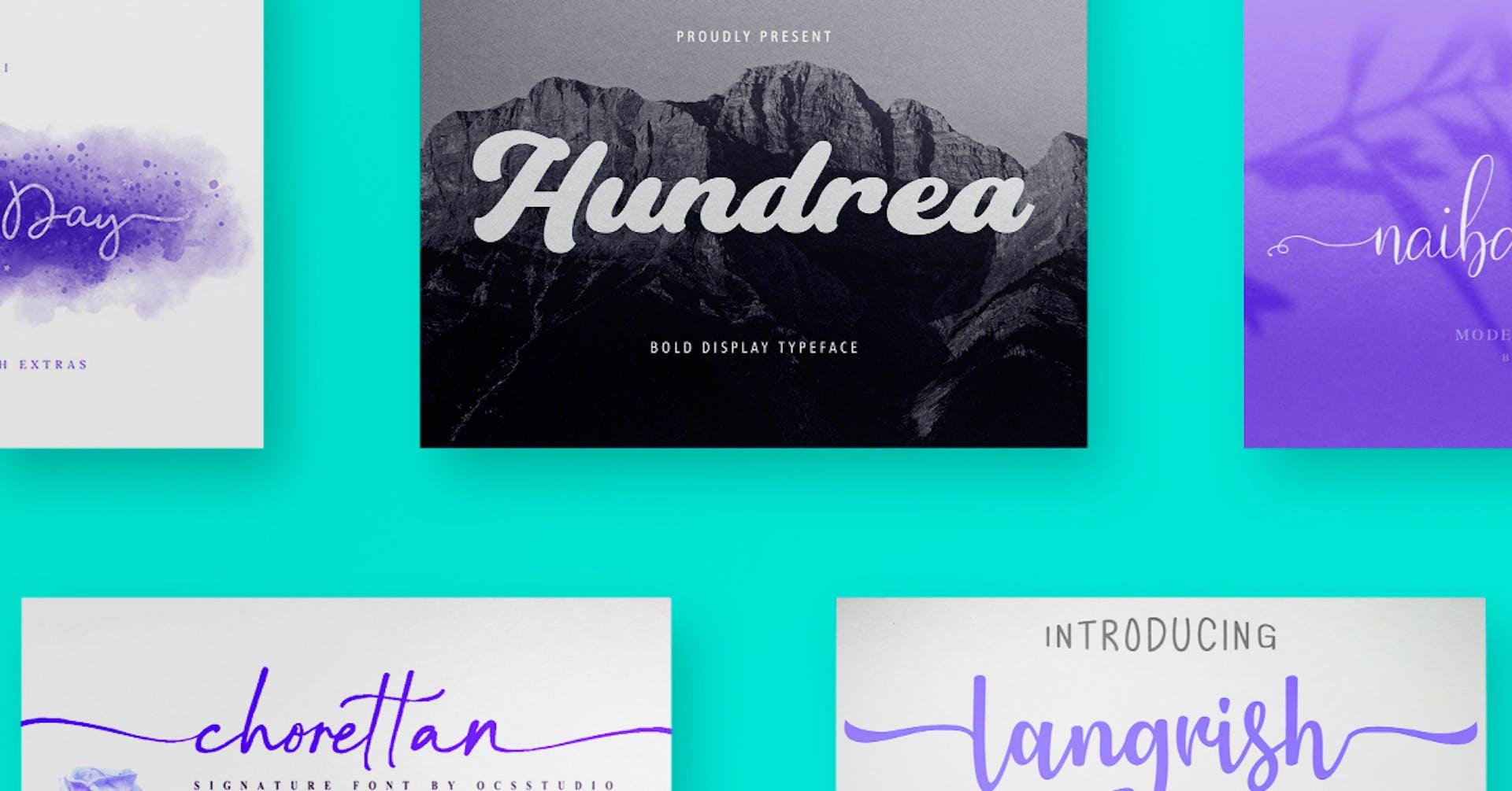 Estas son las 70 lettering fonts que le darán vida a tus diseños