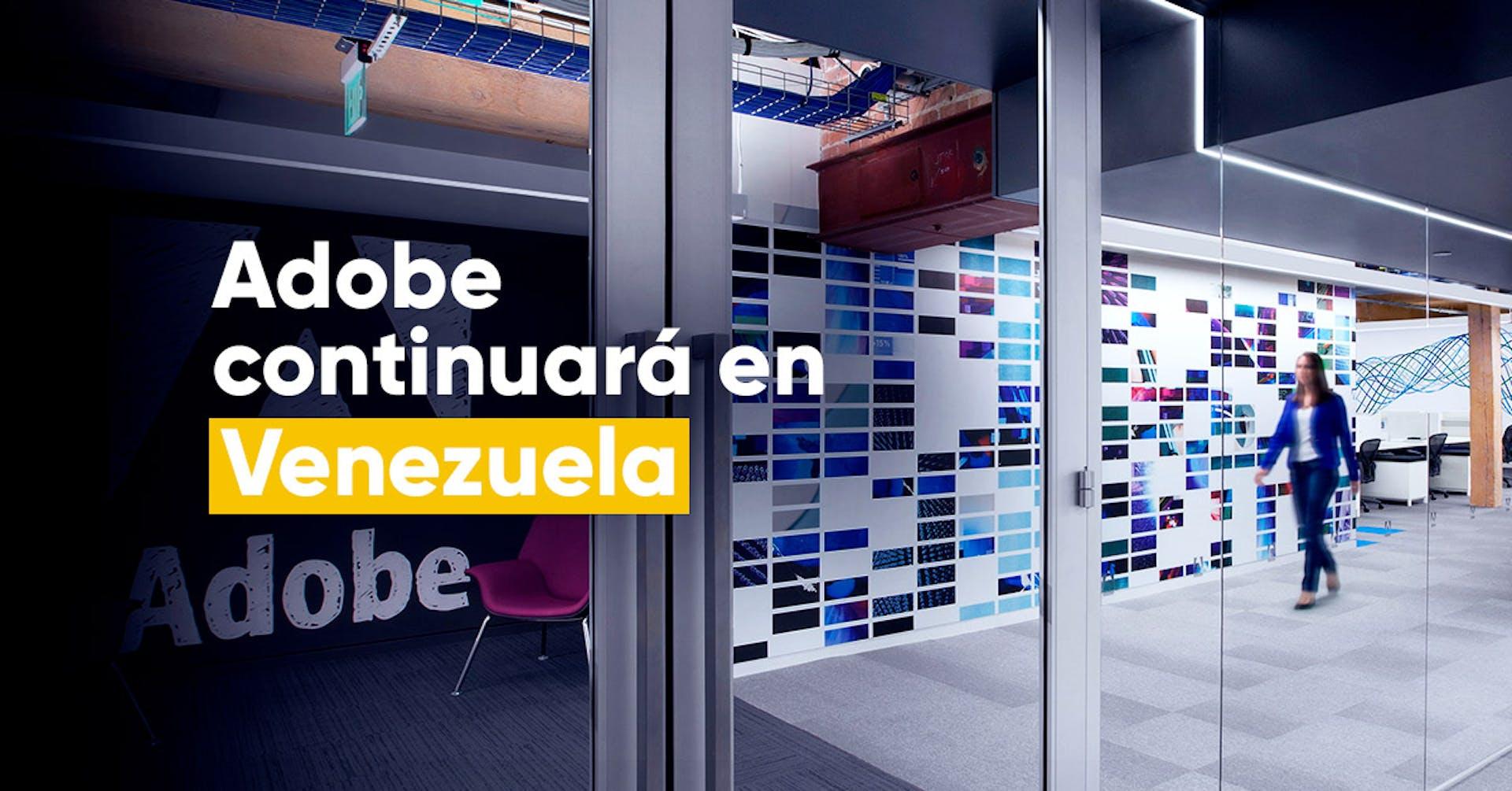 Adobe continuará en Venezuela