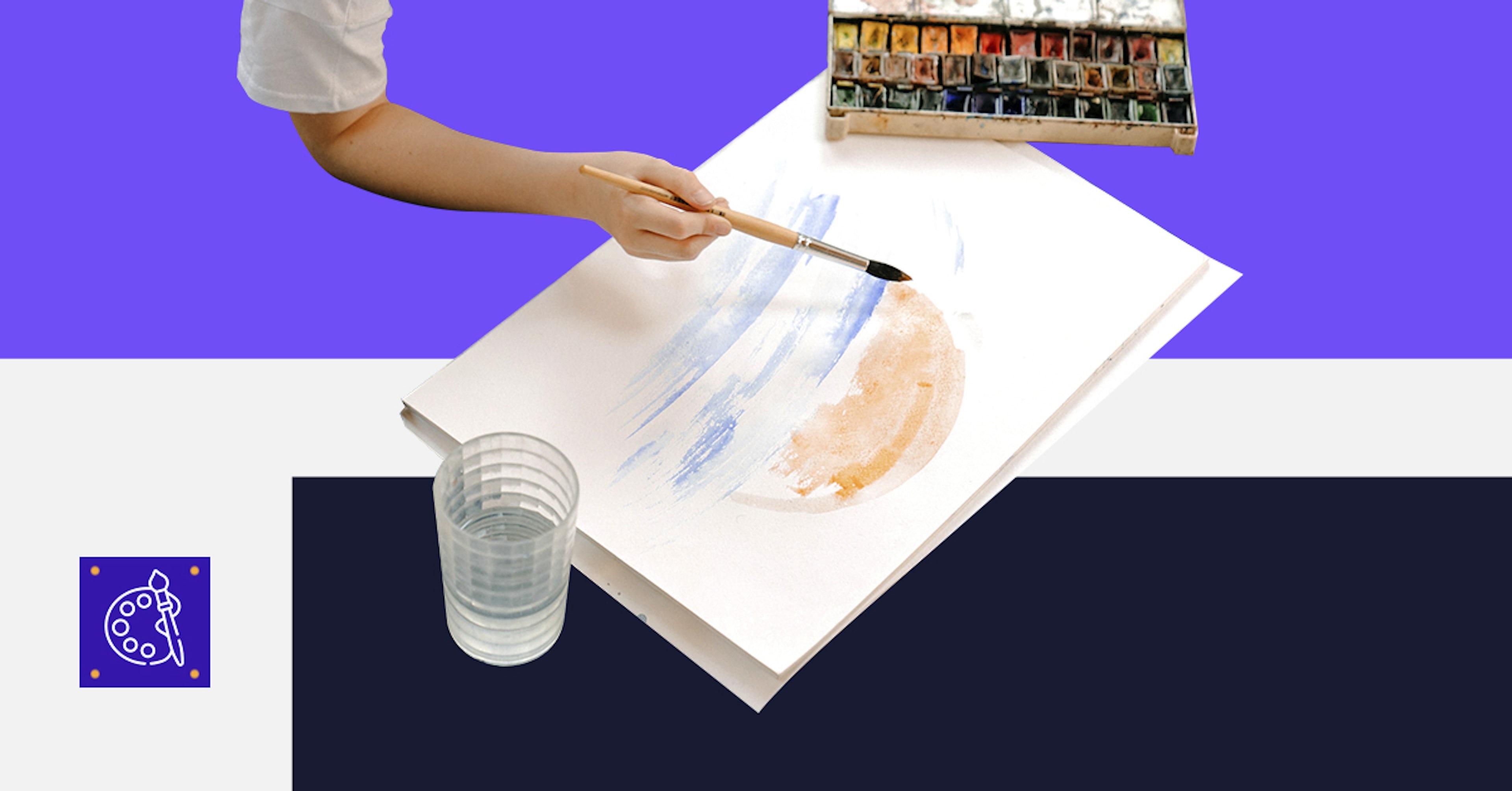 5 ejercicios básicos para pintar fácil con acuarela