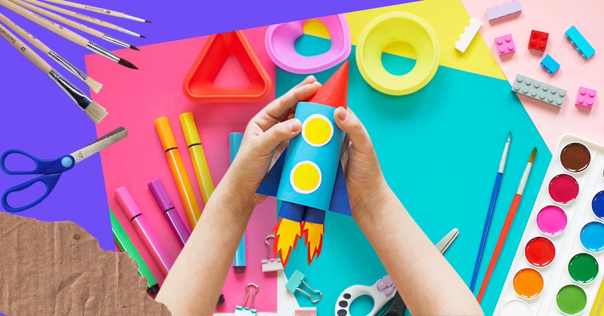 7 manualidades fáciles para niños que estimularán su creatividad