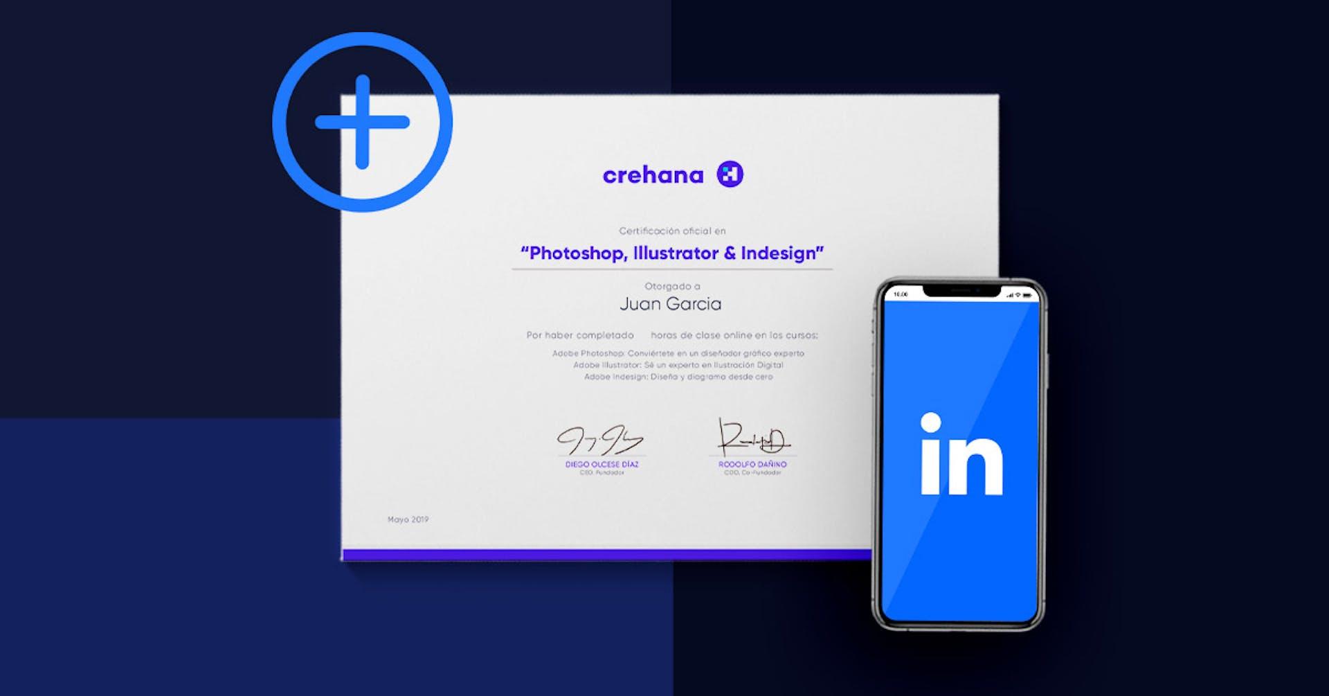Como adicionar seu certificado Crehana ao LinkedIn?